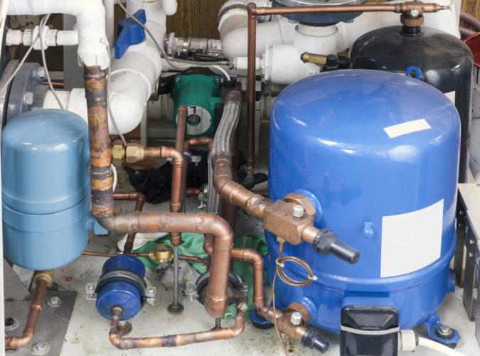 unit cooling sistem, close up